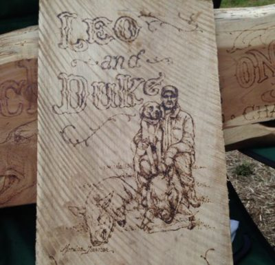 Custom 24x9 Woodburning