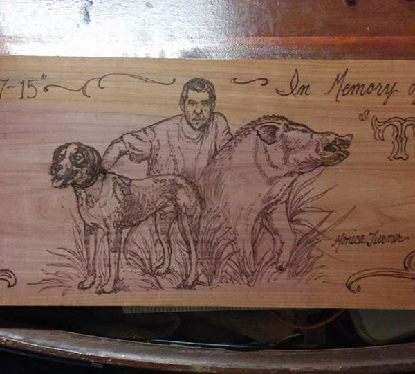 Custom 18x9 woodburning